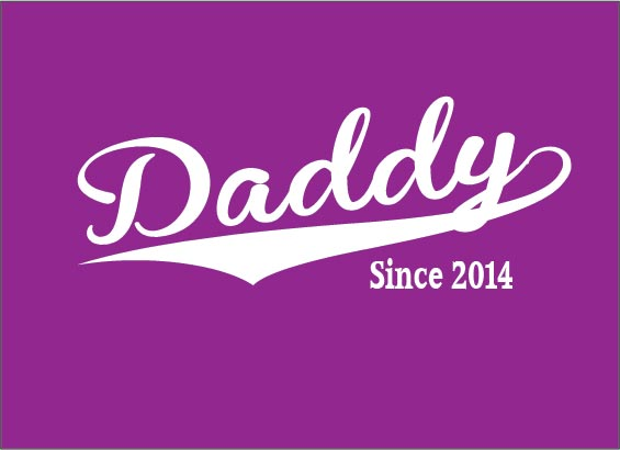 4224896f0470 Dad Since 2014 Babygrow