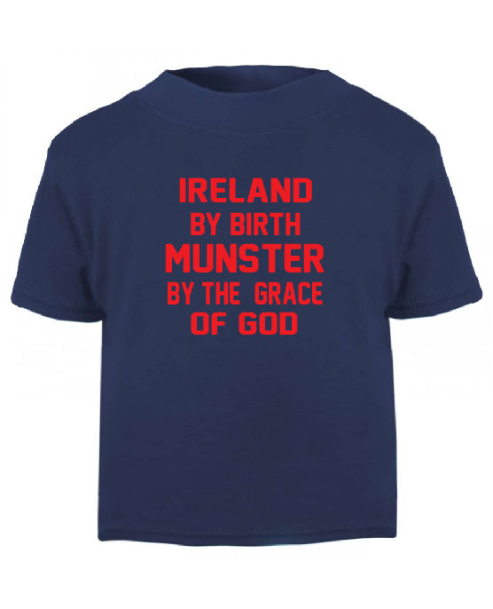 rugby clothes munster ireland by birth munster by the grace of god