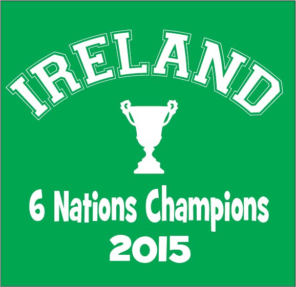 Ireland 6 nations champions baby grow